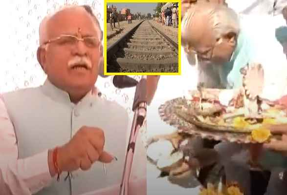 हुड्डा के गढ़ में खट्टर का धमाका, भारत के पहले एलिवेटेड रेल ट्रैक का भूमि पूजन, काम शुरू