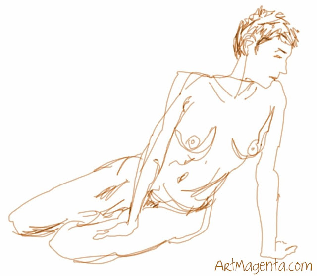 Life Drawing, Croquis from ArtMagenta.com