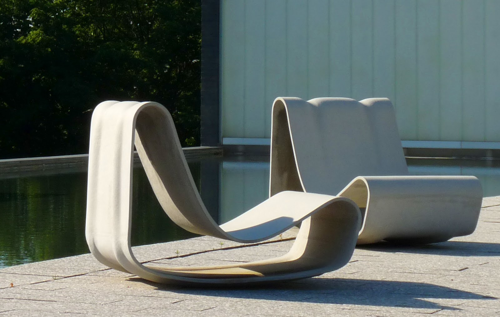 Concrete Loop Modern Hi Quality Outdoor Furniture Designs Chair Upscale Neutra House Grey