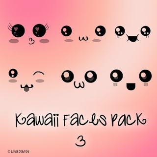 Vistoso pack de Pinceles Kawaii para photoshop