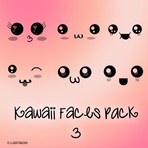 Vistoso pack de Pinceles Kawaii para photoshop