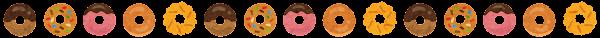 ドーナツのライン素材