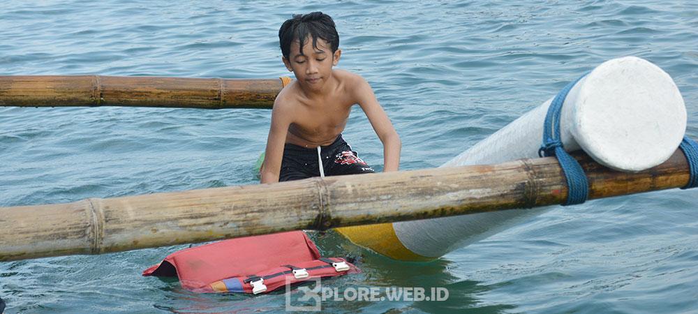 aktivitas wisata pantai bahari di Pangandaran