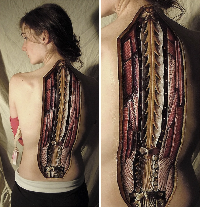 11-Danny-Quirk-Anatomy-Explored-with-Body-Painting-www-designstack-co