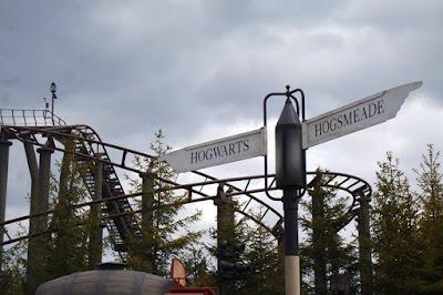 Hogwarts and Hogsmeade Sign post at Universal Studios Japan