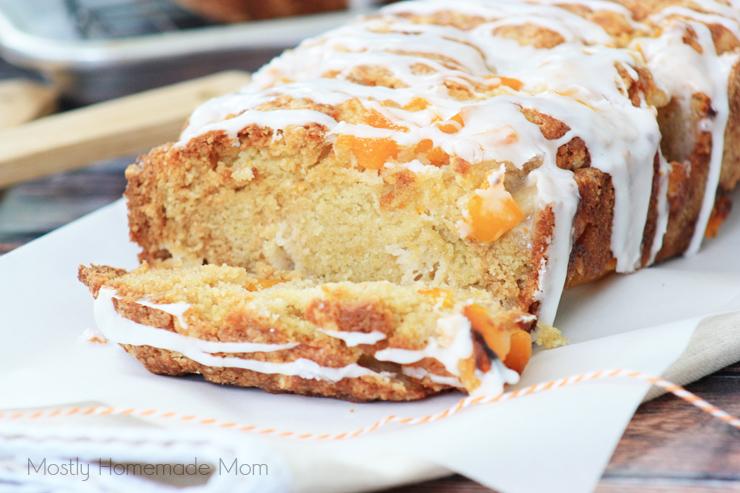 Peach Cobbler Bread Recipe
