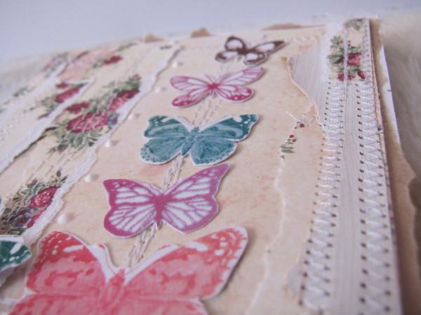 #027 Kartka kwiecisto motylkowa