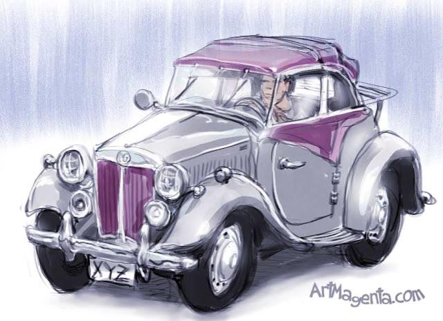 MG TD 1953, Sports car sketch by ArtMagenta