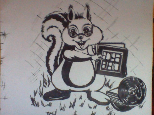 A Squirrel Me Squirreling My Records!