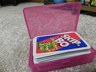 Card game & flashcard storage idea.