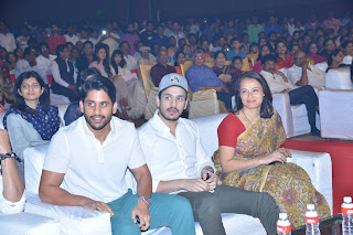 Chaitanya, akhil, amala at om namo venkatesaya audio launch