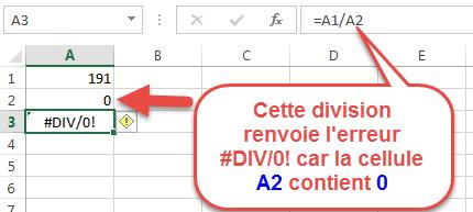 erreur #DIV