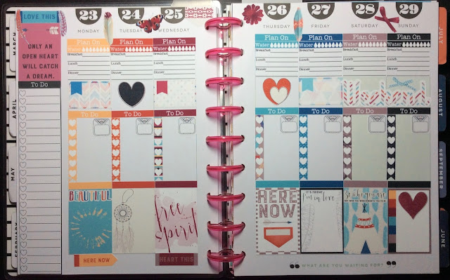 Full Weekly Spread of the Bohemian Dream Sampler in the Happy Planner from myplannerenvy.com
