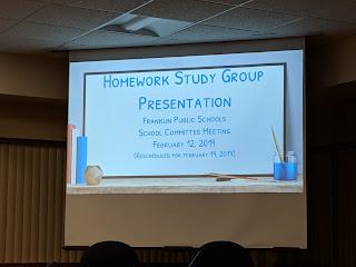 screen capture of the homework presentation