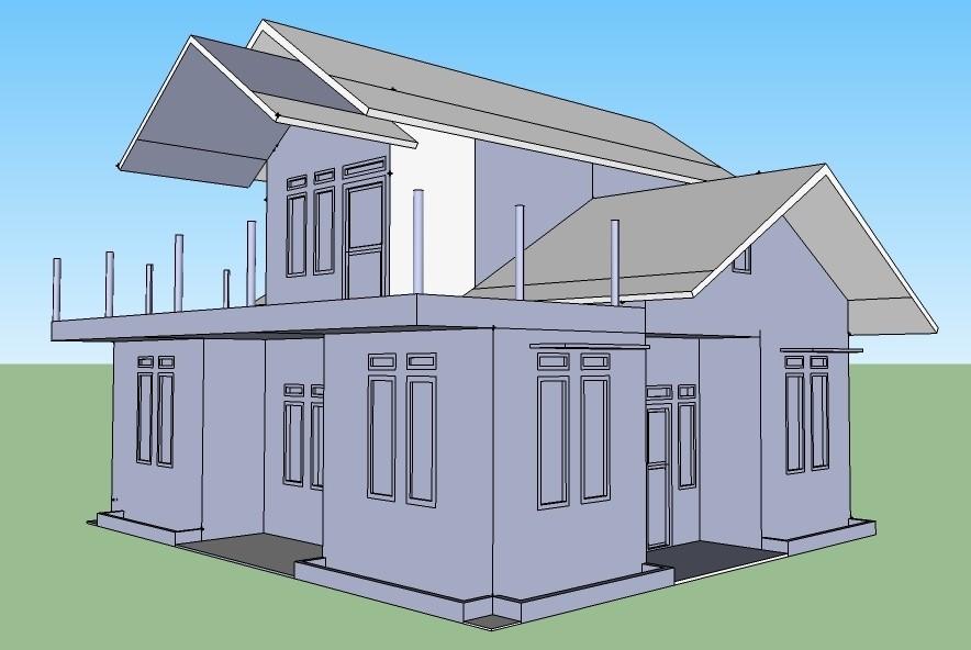 gambar denah rumah dengan coreldraw 4