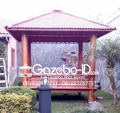 Gazebo Taman Kayu Glugu