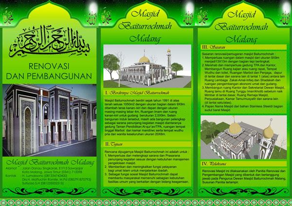 Contoh Desain Brosur Masjid Baiturrochmah