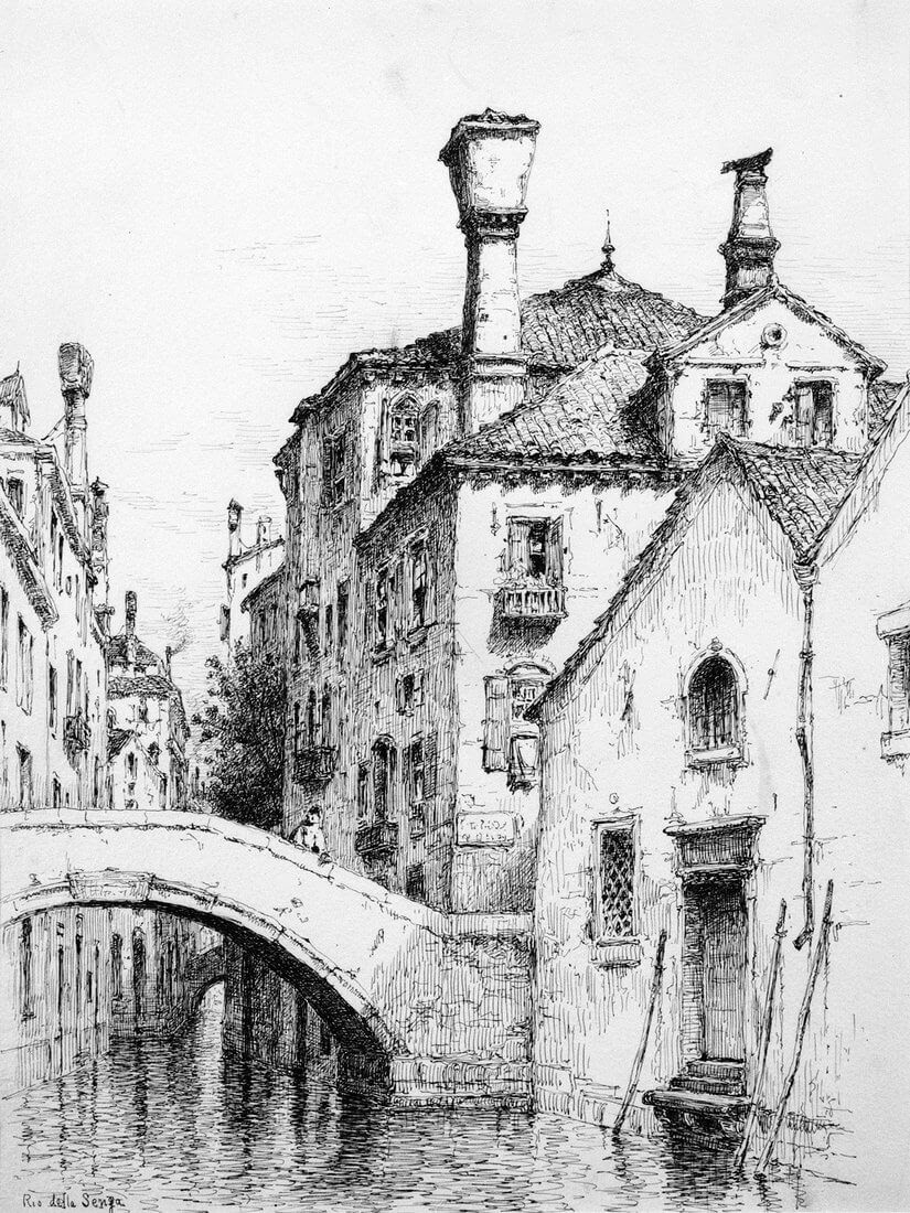 10-Rio-della-Sensa-Venice-1883-Andrew-F-Bunner-Venice-Urban-Architectural-Drawings-from-the-1800s-www-designstack-co