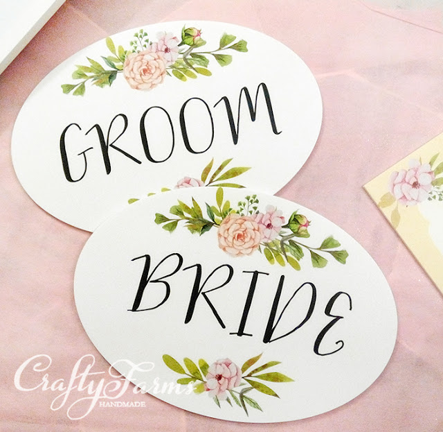Wedding Signages -Bride and Groom Chair Signage