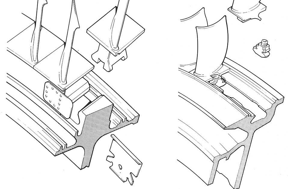 Model Aircraft Methods Of Securing Blades To Disc And Rotors Of