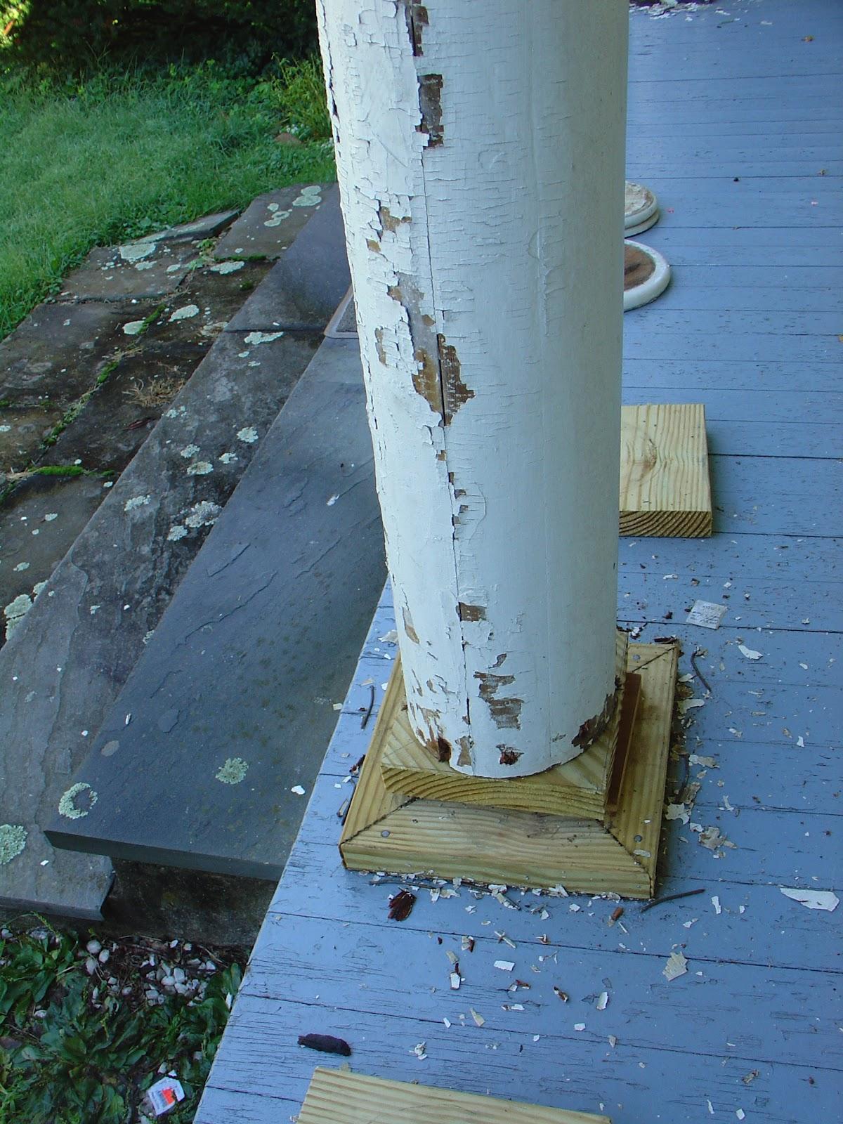 Life At Pugsley Replacing Porch Column Bases 2 Custom