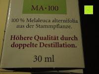 doppelte Destillation: BADERs Teebaumöl AMAX MA-100, 30 ml