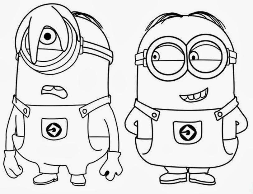 Desenhos Para Colorir E Imprimir Desenhos Dos Minions Para