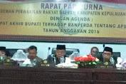Rapat Paripurna Dewan Sahkan APBD Perubahan TA 2016 Kab.Kep.Selayar