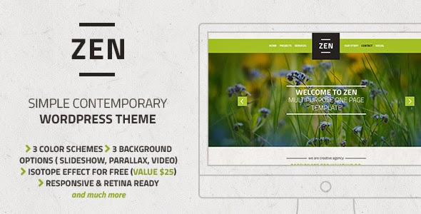 themeforest onepage wp theme