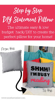 How to Make a DIY Statement Pillow on a Budget