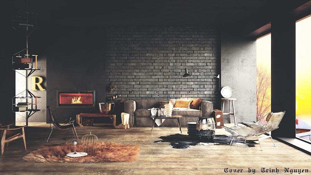 elegant-black-living-room