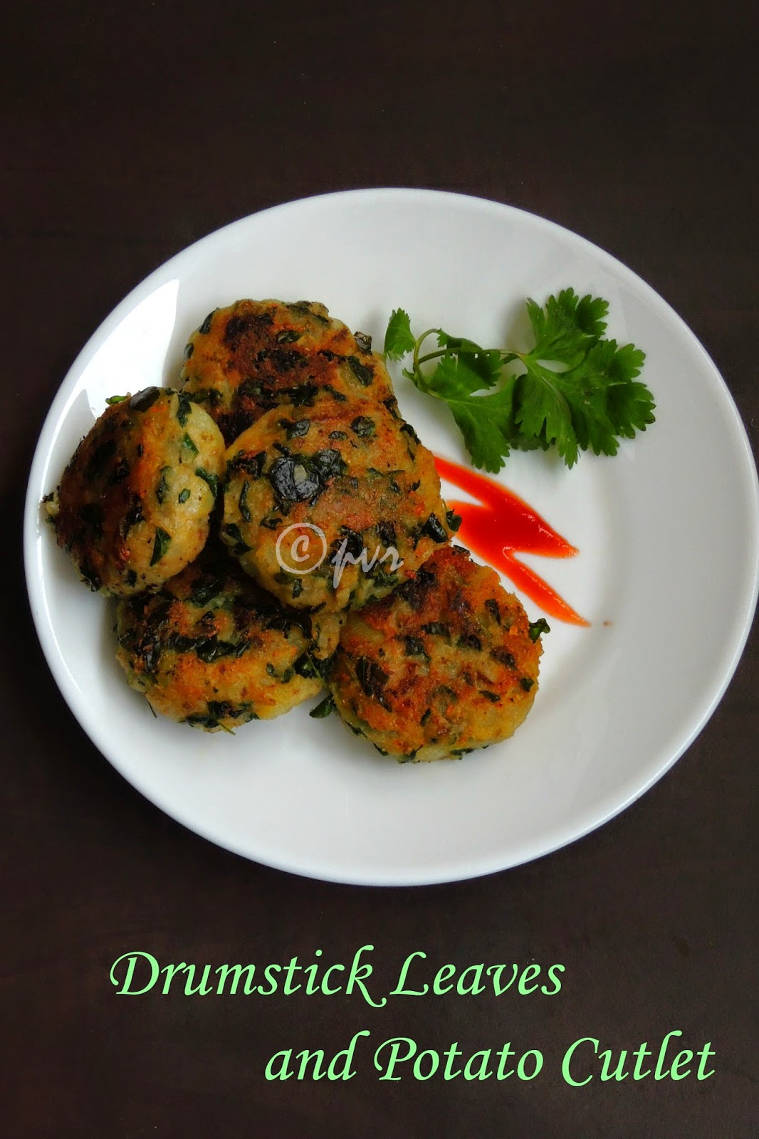 drumstick leaves aloo cutlets, Aloo tikkis with drumstick leaves