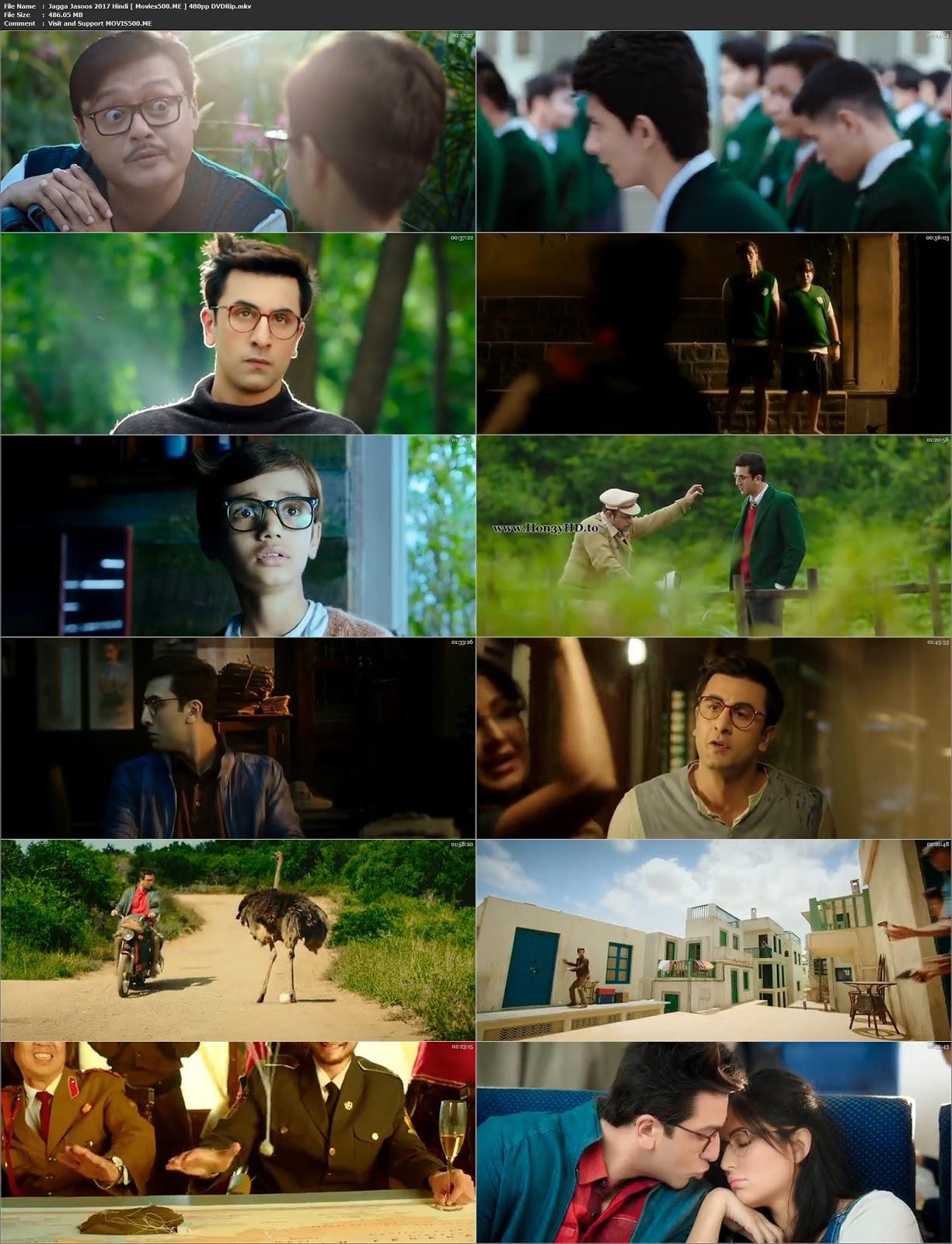 Jagga Jasoos 2017 Bollywood 486MB DVDRip 480p