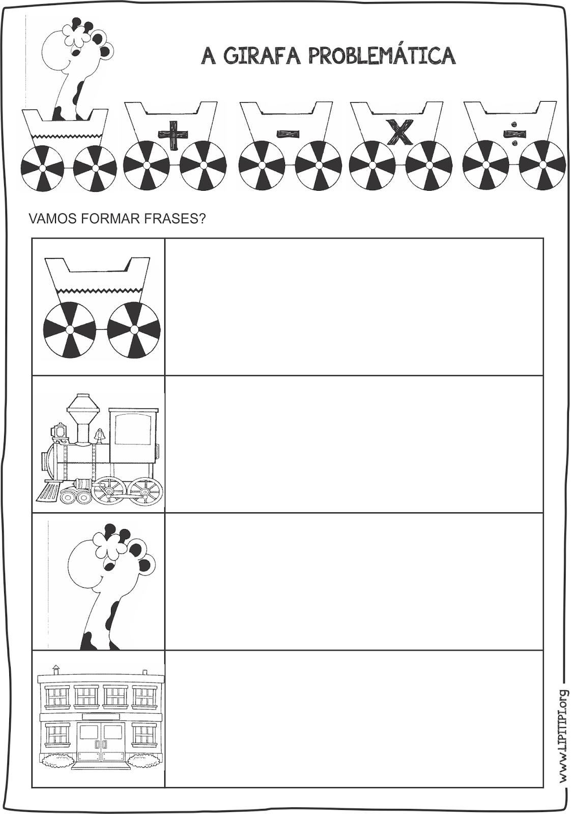 A Girafa Problemática Atividades Sequência Didática Alfabetização