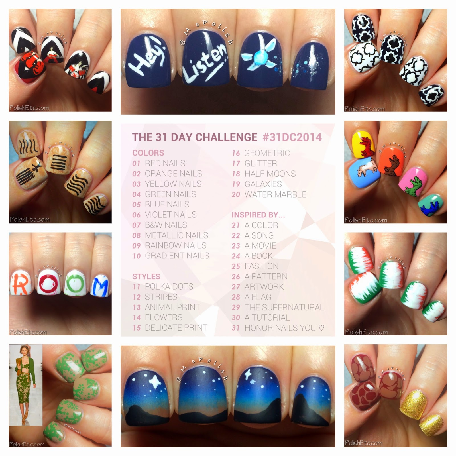 31 Day Nail Art Challenge -#31dc2014 - McPolish