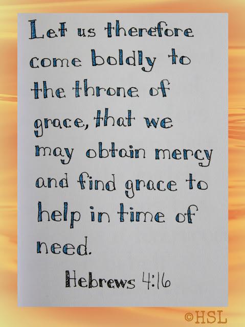 Scripture Writing, Hebrews 4:16