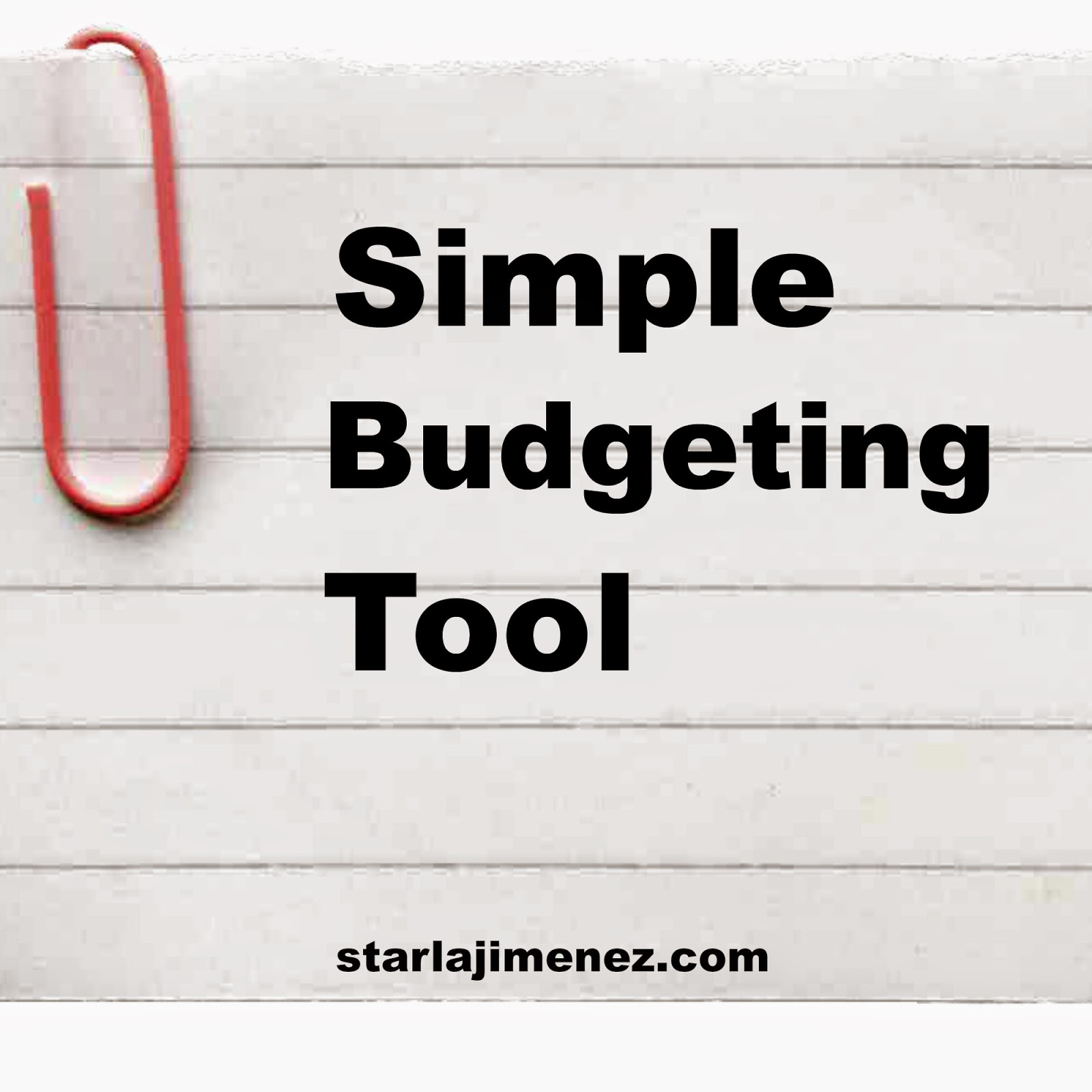 simple budgeting tool