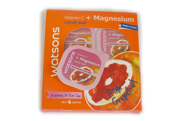 Watsons Pink Grapefruit Vitamin C + Magnesium Capsule Mask