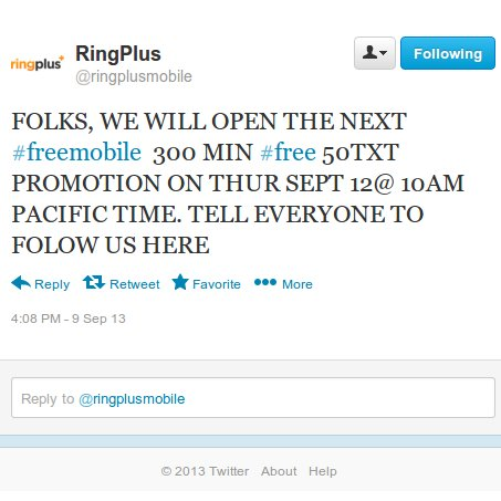 Update - Ended: RingPlus Will Reopen Free Mobile Phone Plan Signups