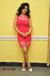 Telugu Actress Vijaya Murthy Stills in Red Short Dress at Www.Meena Bazaar Movie Opening  0102.JPG