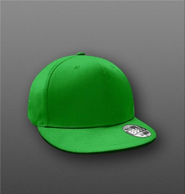 B665 Flat Peak PSD Hat Mockup