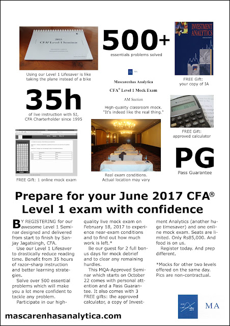 CFA Level 1 2017 Curriculum