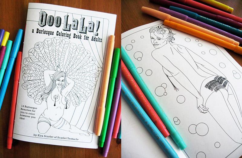 Burlesque coloring book