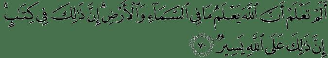 Surat Al Hajj ayat 70