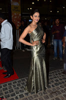 Rakul Preet Singh in Shining Glittering Golden Half Shoulder Gown at 64th Jio Filmfare Awards South ~  Exclusive 008.JPG