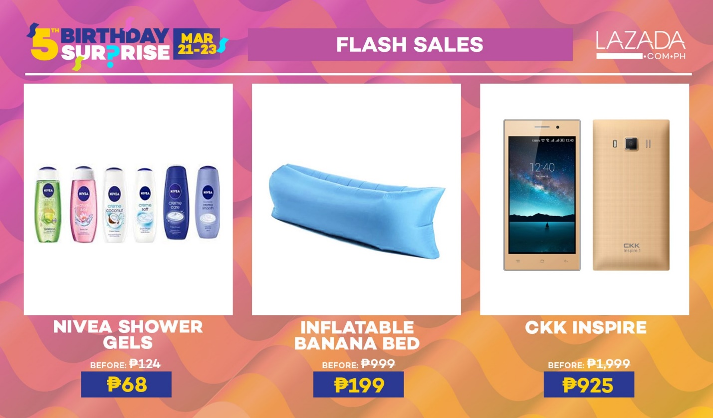 Lazada's 5th Birthday Surprise Flash Sales
