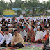 Bupati Bersama Ribuan Warga Batubara Sholat Ied di Lapangan Bola Kaki Sei Balai