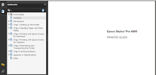 Epson Stylus Pro 4800 Manual