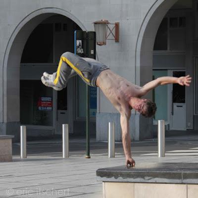 artiste de rue, Mont des Arts, Bruxelles,
