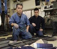 矢野藍秀さんと藍游の親子藍染展開催